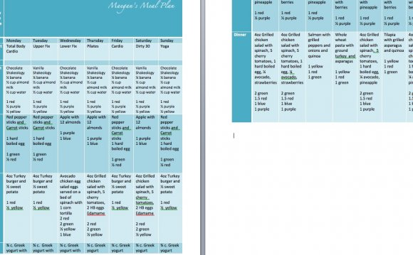 So what does a meal plan look