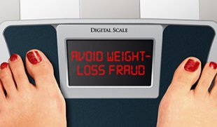 Avoid Weight-loss Fraud on Bathroom Scale Graphic (350 x 205)