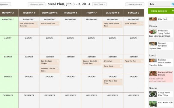 Strict diet meal plan