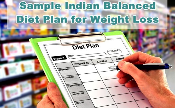 Balanced diet plan For weight loss