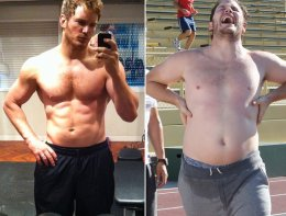 "Movie star Chris Pratt, star of the summertime box office success ""Guardians of the Galaxy"" had one of the most incredible Hollywood body transformations of all time."