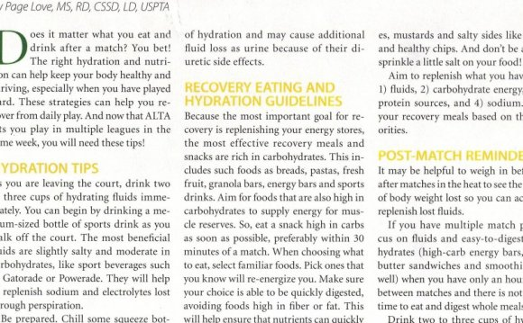 Nutrition Magazine articles