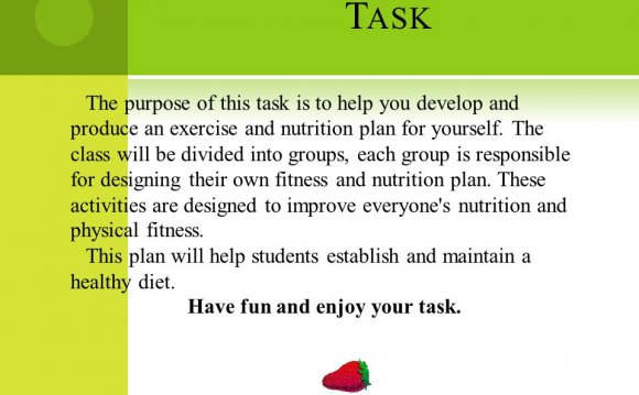 Exercise and Nutrition plan