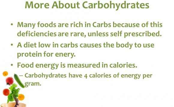 Diet low in carbs
