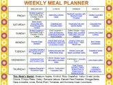 Weekly diet plan to lose weight