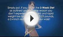 3 Week Diet - The 3 Week Diet Plan For Losing Weight Quickly