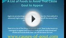 A List of Foods to Avoid That Cause Gout