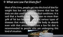Benefits of Low Fat Diets