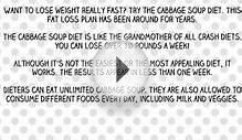Cabbage Soup Diet Plan Is a Quick Fix to Weight Loss