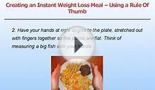 Creating A Weight Loss Meal Using A Rule of Thumb