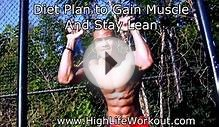 Diet Plan Build / Gain Muscle and Burn Fat Fast As Hell