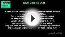 Diet tip 1200 calories diet