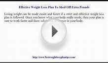 Effective Weight Loss Plan To Shed Off Extra Pounds