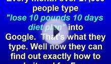 Lose 10 Pounds In 10 Days Diet Plan | Free eBook