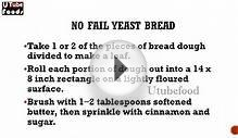 No Fail Yeast Bread - Bread Recipes - Biscuit Recipes