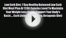[PDF Download] Low Carb Diet: 7 Day Healthy Balanced Low